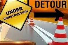under construction detour