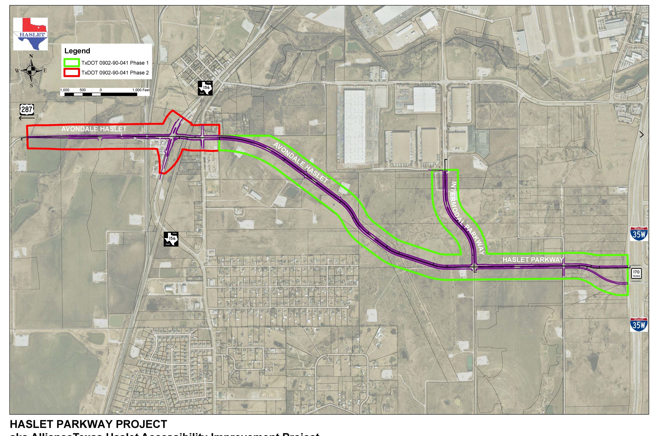 Haslet Parkway Project Map