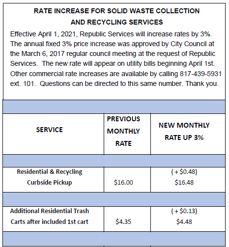 Republic rate increase 04012021