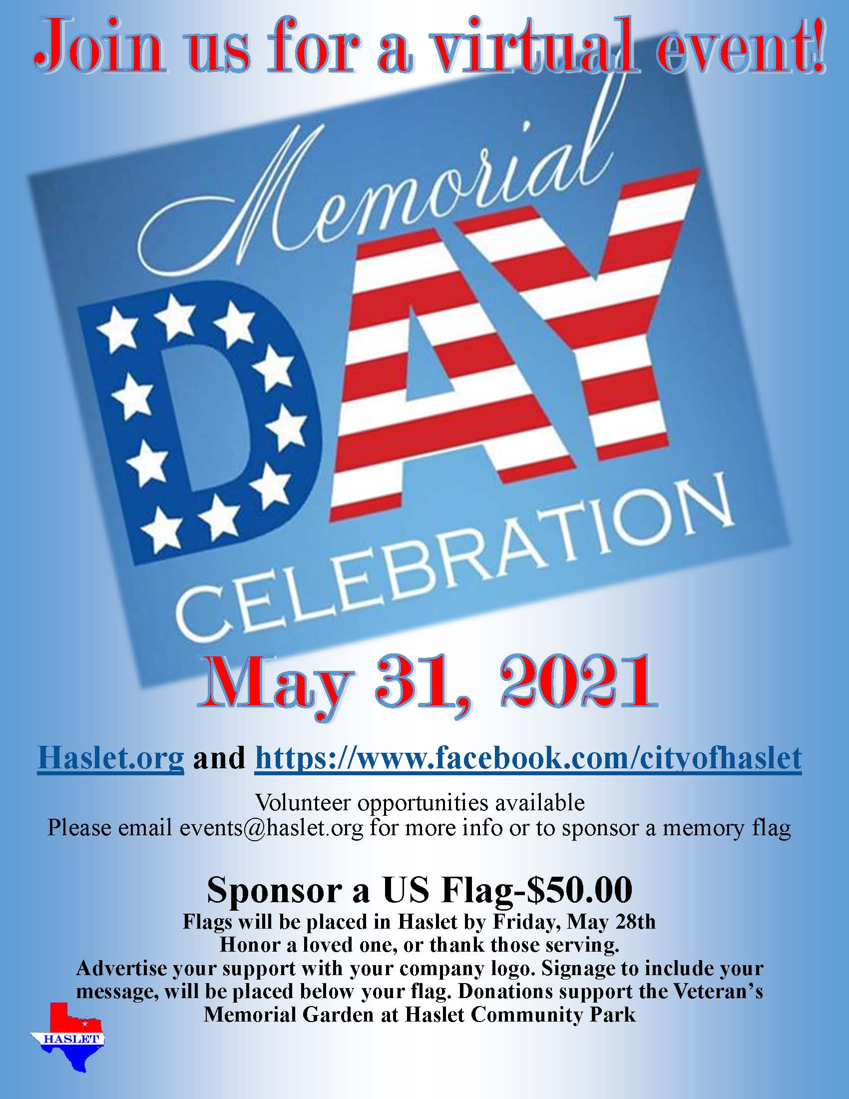 2020 Memorial Day Event, May 25
