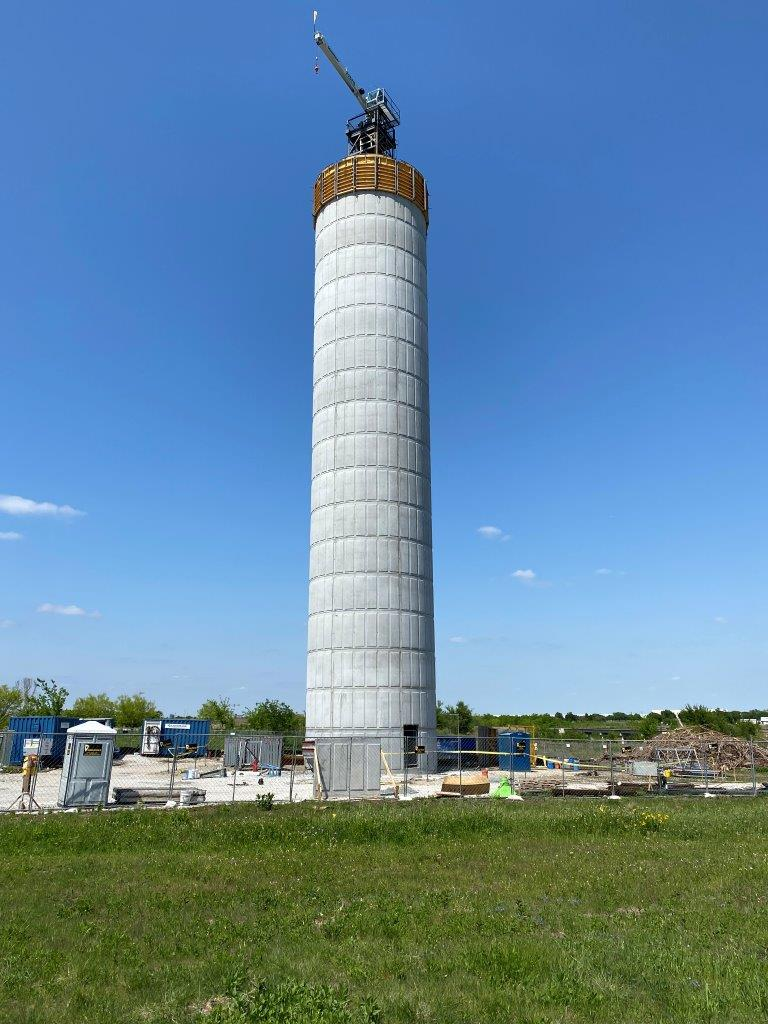 Haslet Water Tower Progress 042022021 18 of 24 rings complete Opens in new window